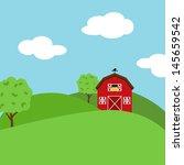 Cute Cartoon Vector Farm...