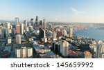 seattle downtown skyline with... | Shutterstock . vector #145659992