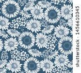 spring flower seamless pattern. ... | Shutterstock .eps vector #1456610345