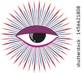 eye illustration purple with... | Shutterstock . vector #1456621808