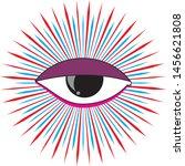 eye illustration purple with...   Shutterstock . vector #1456621808