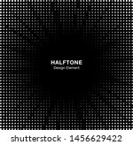halftone star circle frame... | Shutterstock . vector #1456629422