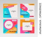 social media post design... | Shutterstock .eps vector #1456630622