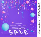 sale flyer with confetti on... | Shutterstock .eps vector #1456634462