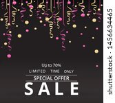sale flyer with confetti on... | Shutterstock .eps vector #1456634465