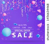sale flyer with confetti on... | Shutterstock .eps vector #1456634468