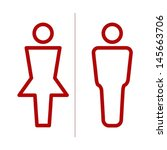 vector restroom icon | Shutterstock .eps vector #145663706