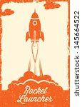 rocket vintage style | Shutterstock .eps vector #145664522
