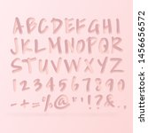 trendy 3d alphabet set  bold...   Shutterstock .eps vector #1456656572