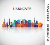 hannover skyline silhouette in...   Shutterstock .eps vector #1456659392