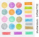 Set Of Color Pencil Design...