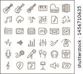 set of music line icon set.... | Shutterstock .eps vector #1456710635