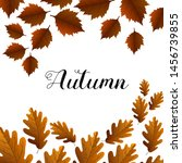 autumn composition of leaves.... | Shutterstock .eps vector #1456739855