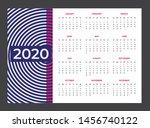 2020 calendar   illustration.... | Shutterstock .eps vector #1456740122
