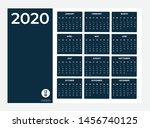 2020 calendar   illustration.... | Shutterstock .eps vector #1456740125