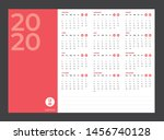 2020 calendar   illustration.... | Shutterstock .eps vector #1456740128