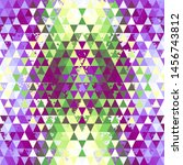 seamless pattern of a triangles.... | Shutterstock .eps vector #1456743812