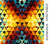seamless pattern of a triangles.... | Shutterstock .eps vector #1456743815