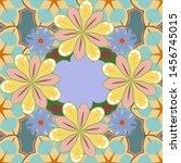 floral seamless pattern. vector ... | Shutterstock .eps vector #1456745015