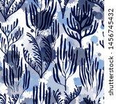 ocean corals seamless pattern.... | Shutterstock .eps vector #1456745432