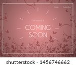 website landing page with... | Shutterstock .eps vector #1456746662