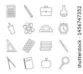 school set. set of icons.... | Shutterstock .eps vector #1456747352