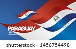 paraguay independence day flag... | Shutterstock .eps vector #1456754498