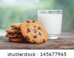 Stack Of Chocolate Chip Cookie...