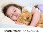 kid girl sleeping | Shutterstock . vector #145678016