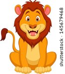 cute lion cartoon | Shutterstock .eps vector #145679468