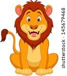 Stock vector cute lion cartoon 145679468
