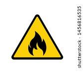 fire warning sign on white.... | Shutterstock .eps vector #1456816535