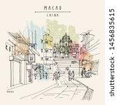 macao  macau   china  asia....   Shutterstock .eps vector #1456835615