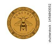 honey label design with bee... | Shutterstock .eps vector #1456843052