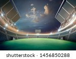 lights at night and stadium 3d... | Shutterstock . vector #1456850288