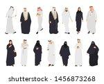 arab isolated flat illustration ... | Shutterstock .eps vector #1456873268