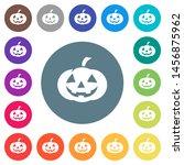 halloween pumpkin flat white... | Shutterstock .eps vector #1456875962