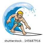 surfer enjoying the wave   Shutterstock .eps vector #145687916