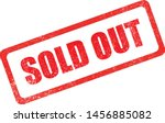 sold out red grunge stamp  sale ... | Shutterstock .eps vector #1456885082
