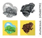vector illustration of wildlife ... | Shutterstock .eps vector #1456887992