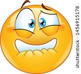 frightened emoji emoticon... | Shutterstock .eps vector #1456915178