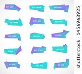 vector stickers  price tag ... | Shutterstock .eps vector #1456963925