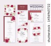 beautiful wedding invitation... | Shutterstock .eps vector #1456965722