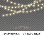christmas lights isolated on... | Shutterstock .eps vector #1456975835