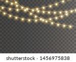 christmas lights isolated on... | Shutterstock .eps vector #1456975838