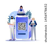 qr code scanning illustration...