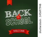back to school poster with text ... | Shutterstock .eps vector #145697948
