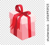 gift box  ribbon and bow icon... | Shutterstock .eps vector #1456993925