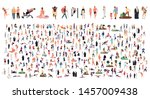 crowd of flat illustrated... | Shutterstock .eps vector #1457009438