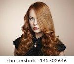 portrait young beautiful woman... | Shutterstock . vector #145702646